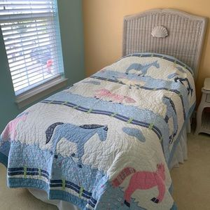 Pottery Barn Kids Horse Quilt.